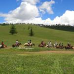 テレルジ国立公園で乗馬